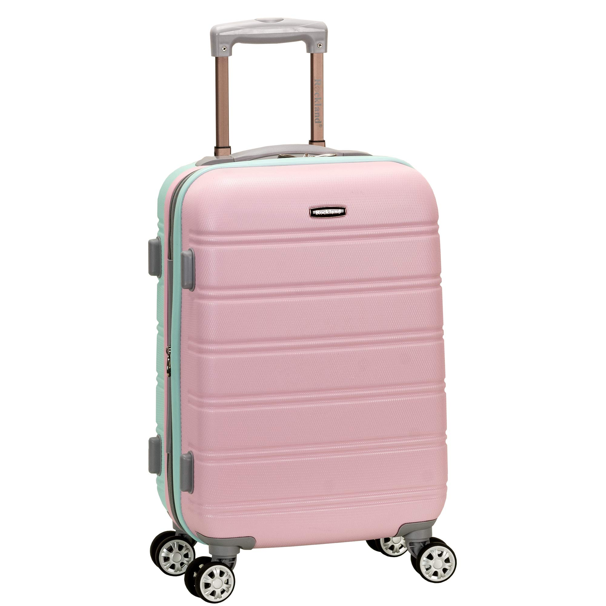 Rockland Melbourne 20'' Expandable Abs Carry On, Mint