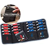 Lewis N. Clark AM/PM Folding Pill Organizer + Supplement Case for OTC Medicine