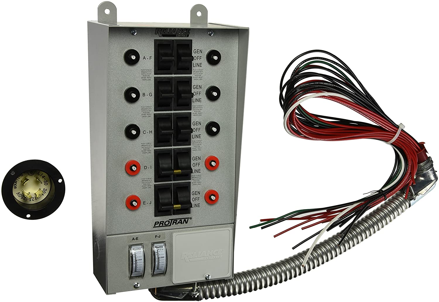 81ZmnL09O%2BL._SL1500_ amazon com reliance controls corporation 30310a pro tran 30 amp protran transfer switch wiring diagram at crackthecode.co