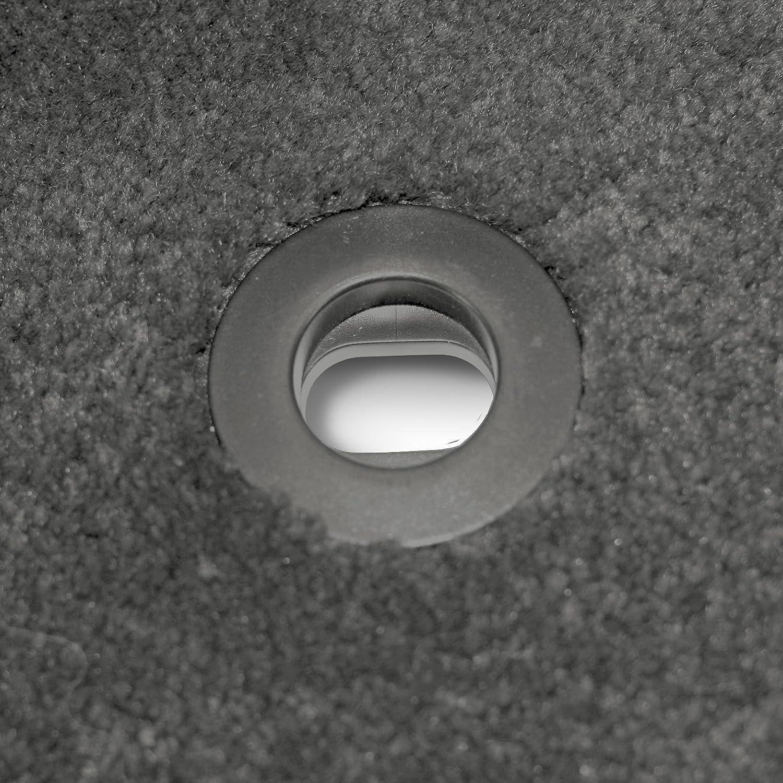 Black Nylon Carpet Coverking Custom Fit Rear Floor Mats for Select Acura MDX Models CFMCX1AC7084