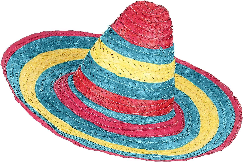 Vegaoo Sombrero Messicano Rosso-Verde-Giallo Adulto Taglia UnicaSombrero Messicano Rosso-Verde-Giallo Adulto Taglia Unica