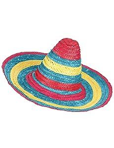 Vegaoo - Sombrero Mexicano Rojo Verde Amarillo Adulto - Única