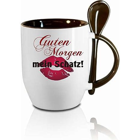 Tasse M Löffel Guten Morgen Mein Schatz Löffeltasse