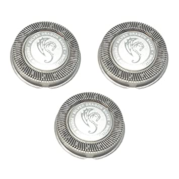 Amazon.com  HQ56 HQ55 HQ4 HQ3 Replacement Heads Set of 3 Precision Silver  Dragon Universal Cooling Surface Blades for Philips Norelco Compatible  Electric ... 7ed39f2624