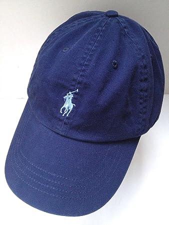 5e1ada508 cheap amazon polo ralph lauren womens navy blue cap hat with light blue  pony logo adjustable