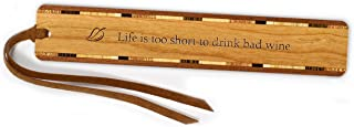 product image for Funny Wine Quote Engraved Wooden Bookmark with Suede Tassel - Search B07GT8PC8R to See Personalized Version
