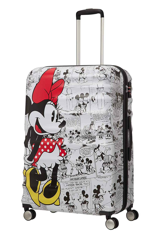 Spinner Large Bagage Cabine Minnie Comics White American Tourister Wavebreaker Disney Blanc 77 cm 96 liters