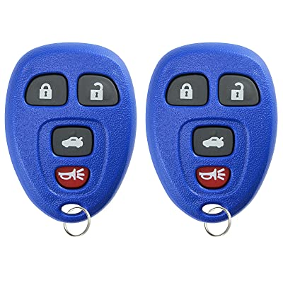 KeylessOption Keyless Entry Remote Control Car Key Fob Replacement for 15252034 -Blue (Pack of 2): Automotive