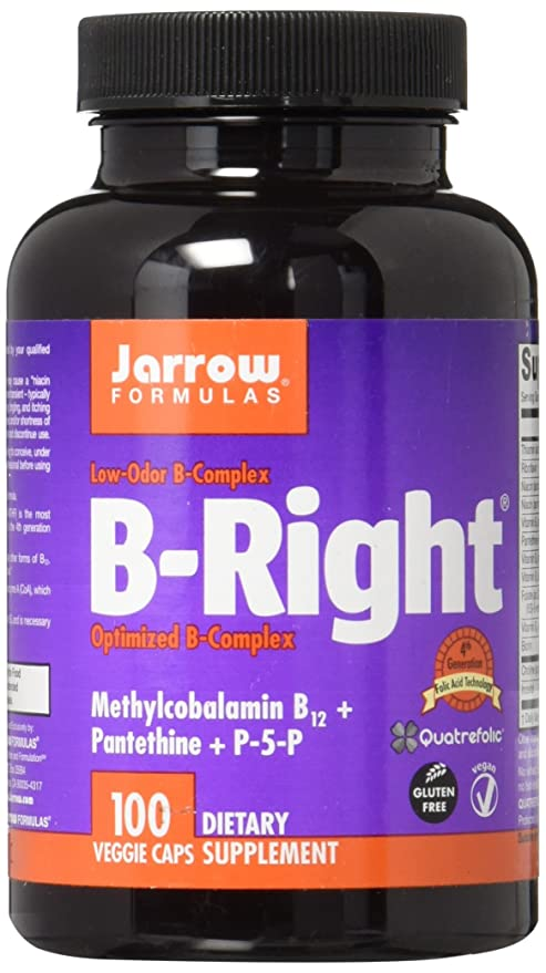 Jarrow Formulas - B-Right/B-Complex, 100 Capsules