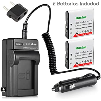 Amazon Com Kastar Lcd Usb Charger For Casio Np 40 Np40