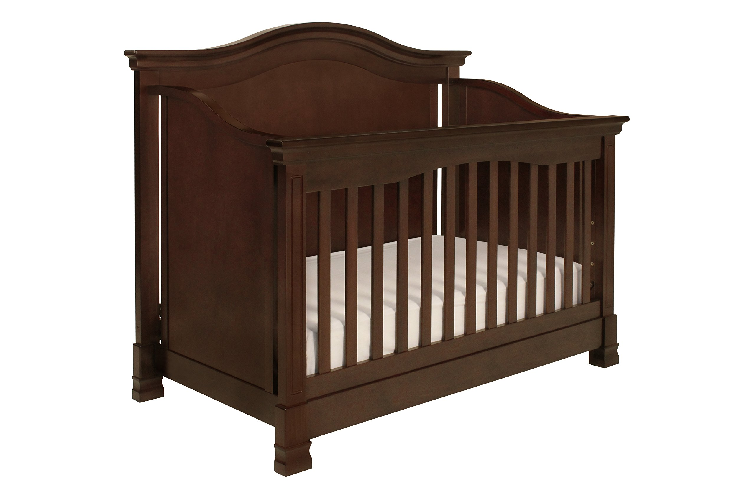 Million Dollar Baby Classic Louis 4-in-1 Convertible Crib With Toddler Bed Conversion Kit,  Espresso product image