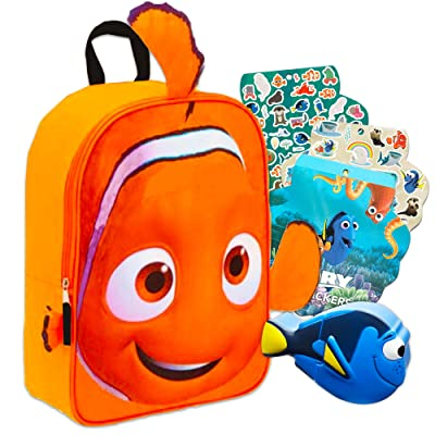 Finding Nemo Mini Backpack Set with Dory Snack Container and Finding Dory Stickers | Kids' Backpacks