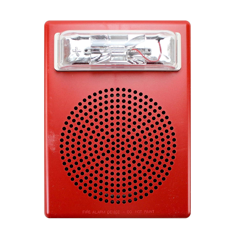 Wheelock rojo soporte de pared E50 altavoz luz estroboscópica, 15/30/75/110: Amazon.es: Electrónica