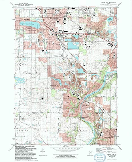 Crystal Lake Illinois Map.Amazon Com Yellowmaps Crystal Lake Il Topo Map 1 24000 Scale 7 5