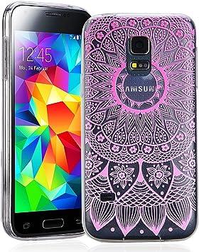 SmartLegend Coque Samsung S5 Mini , Souple Silicone Rainbow ...