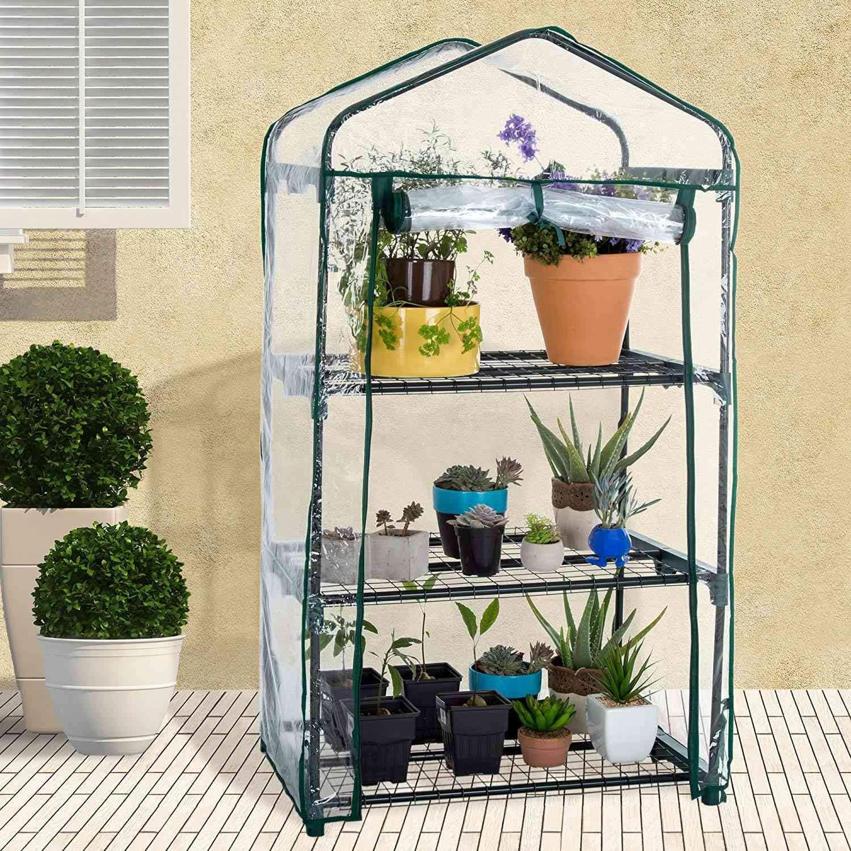 Y Compris la Couverture PVC Seulement Nrpfell 4 Couches de Plantes /à Effet de Serre /à la Maison Imperm/éAble /à LEau Plantes de Couverture UV et des Fleurs Rez de Jardin /à Lise vec PVC