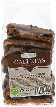 Biospirit Galletas de Espelta y Frutas de Cultivo Ecológico, 200 g