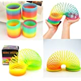 Magic Spring - Plastic Magic Spring Toy - Bouncy Stretchy Slinky Toys (Pack Of 2) Birthday return gift ( Gift Packing )