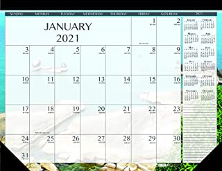 product image for House of Doolittle 2021 Monthly Desk Pad Calendar, Earthscapes Seascapes, 22 x 17 inches, January - December (HOD138-21)