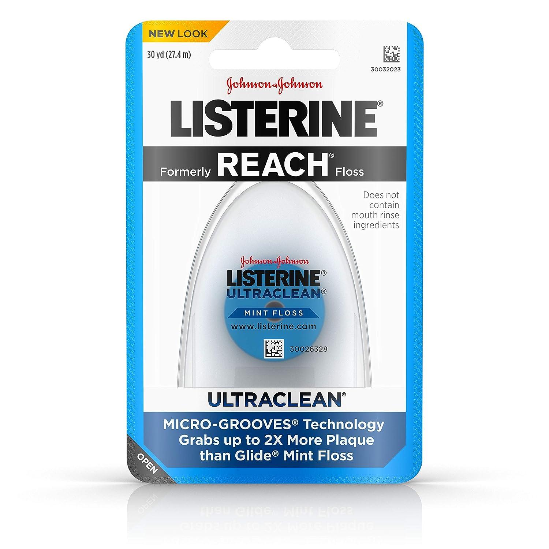 Listerine Ultraclean Floss, Mint (Pack of 6) Johnson & Johnson SLC 012547440133