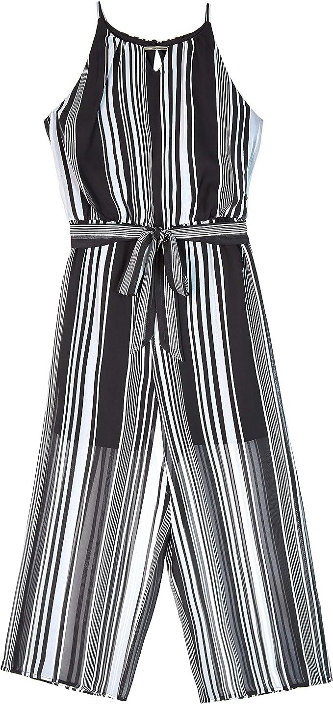 Amy Byer Girls Big Faux Wrap Jumpsuit