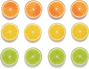 Fridge Magnets Refrigerator Magnets (12 Orange)