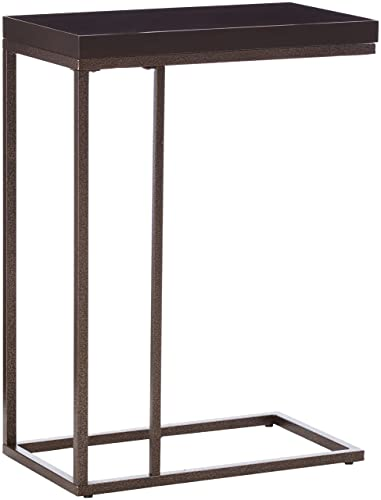Monarch Specialties , Accent Table, Bronze Metal, Cappuccino