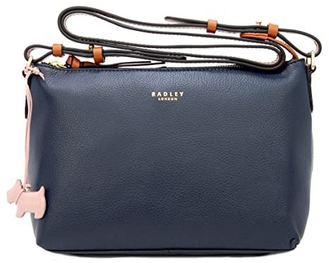 RADLEY Leather Zip Top Across Body Bag  Guildhall  in Navy RRP 169.00 6f9b48cd4a7c7