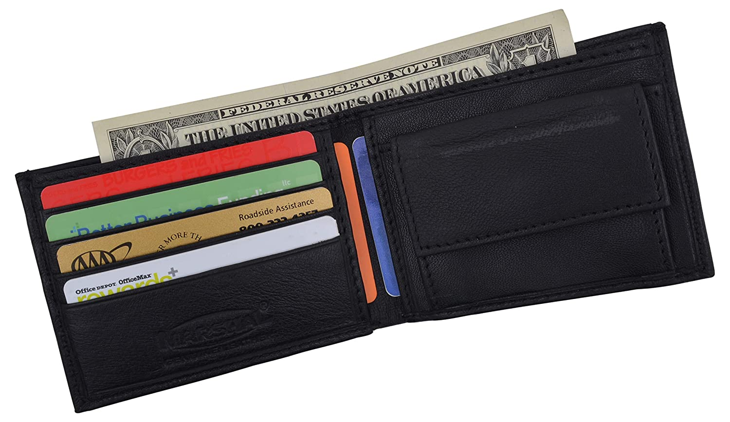 Boys Slim Compact Card and Coin Pocket Bifold Leather Wallet