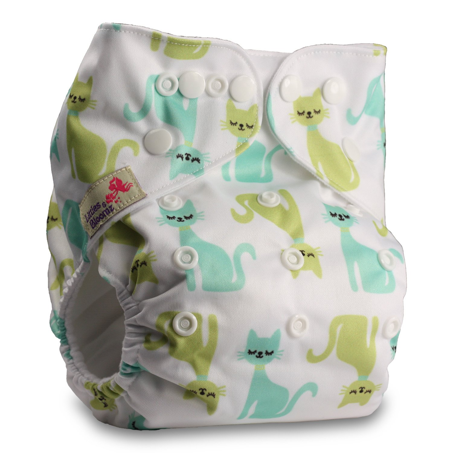 Reusable Pocket Cloth Nappy with 1 Microfibre Insert Pattern 42 Littles /& Bloomz Fastener: Popper Set of 1