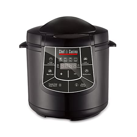 Chef Di Cucina CC600 Multi Cooker, Black