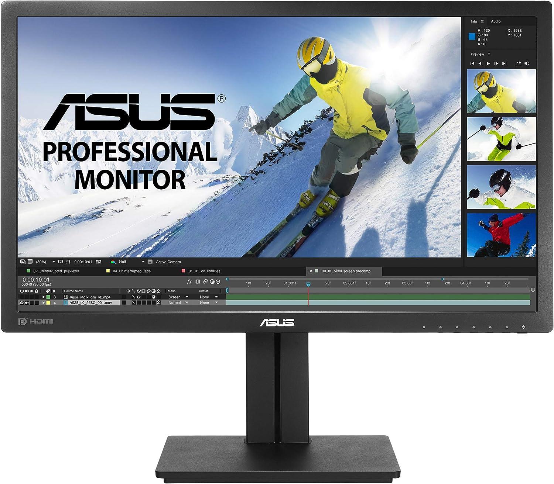 "Asus PB278QV 27"" Professional Monitor 75Hz WQHD (2560 X 1440) Adaptive-Sync Eye Care DisplayPort HDMI Dual-Link DVI VGA,Black"