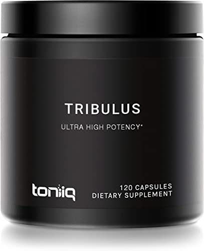 Ultra High Strength Tribulus Capsules – 95 Steroidal Saponins – 1300mg Concentrated Extract Formula – The Strongest Testosterone Booster Available – 120 Caps