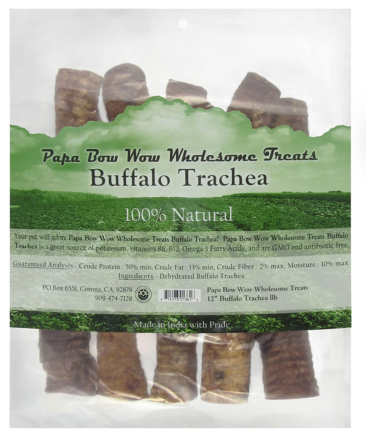 Papa Bow Wow Buffalo Treats for Dogs, Trachea