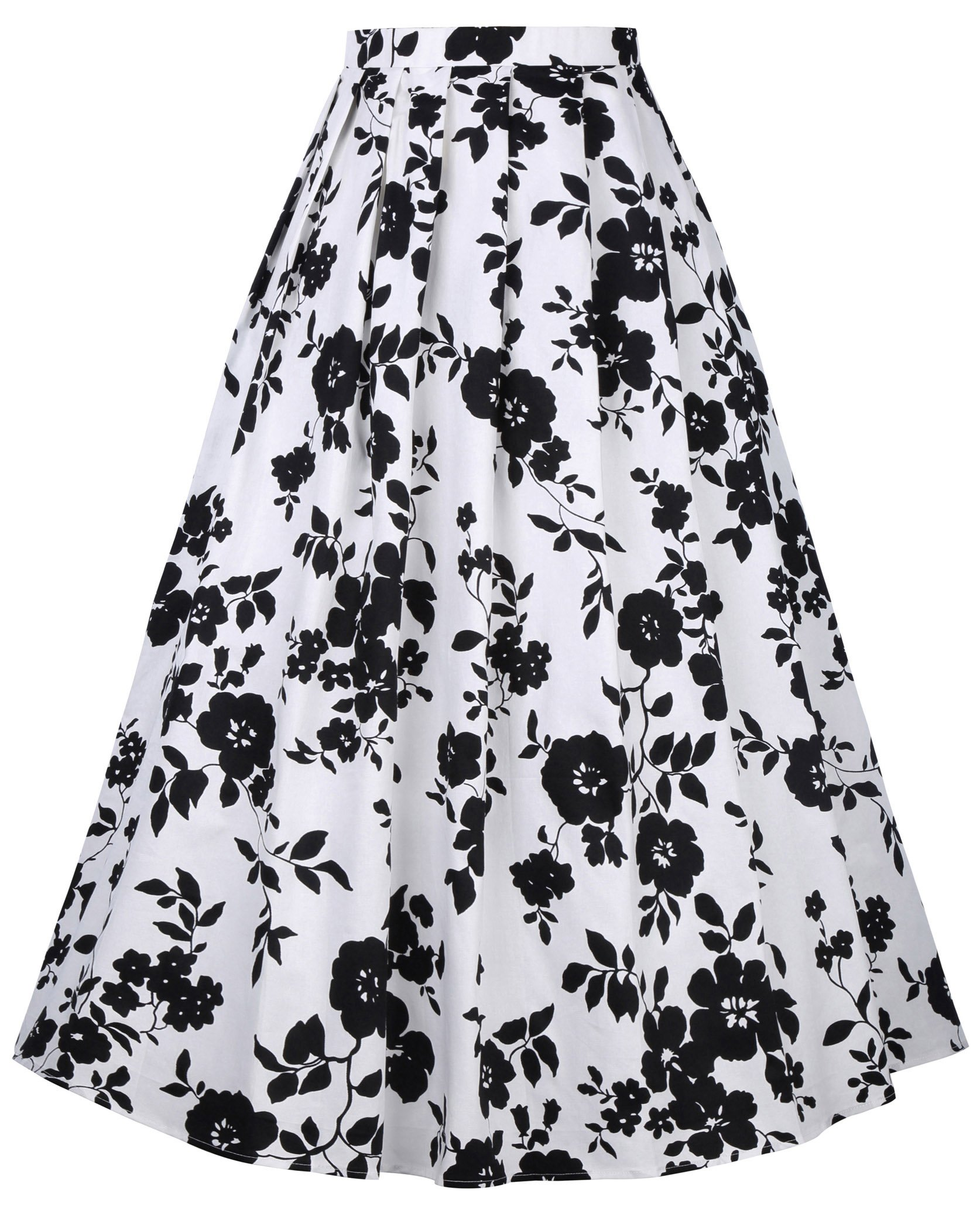 Pleated Long Skirt for Women 1950s Inspired Circle Skirts Size L BP324-1
