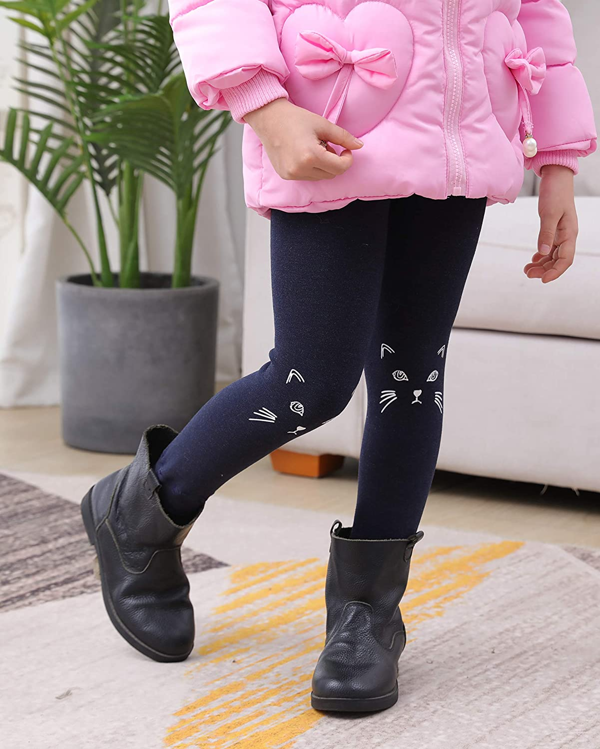 IRELIA Winter Girls Thick Fleece Lined Leggings Pants