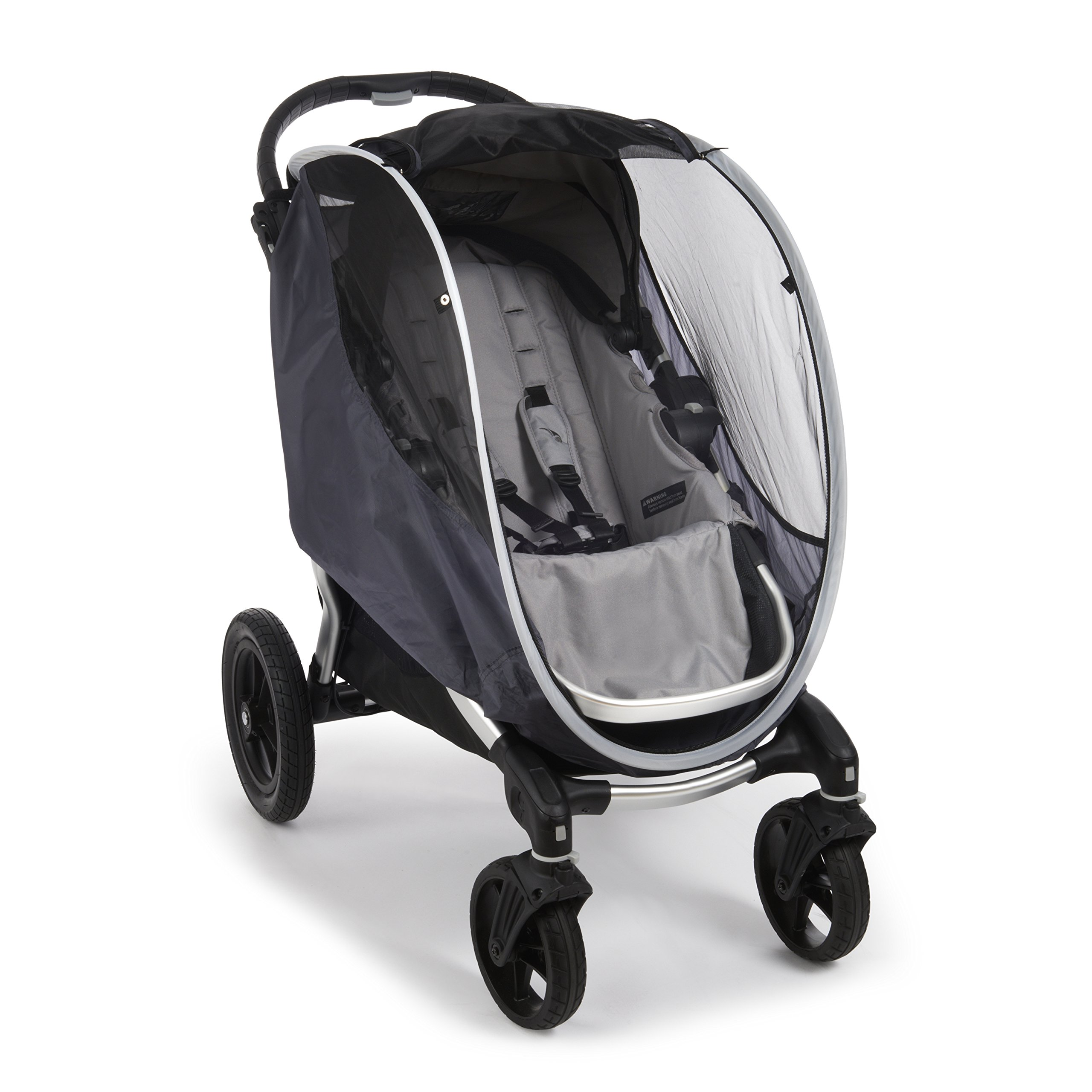 Munchkin Brica Shield Stroller Cover, Helps Block UVA/UVB Rays, Grey by Munchkin (Image #3)