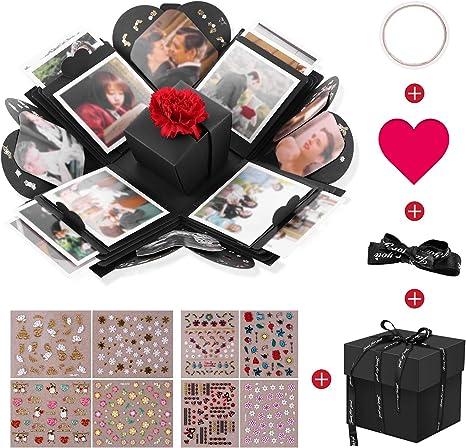 VPCOK Explosion Box, DIY Álbum de Fotos, Caja de Regalo para Cumpleaños Día de San Valentín Aniversario Navidad, Caja de Fotos, Creativa Explosión Caja: Amazon.es: Hogar