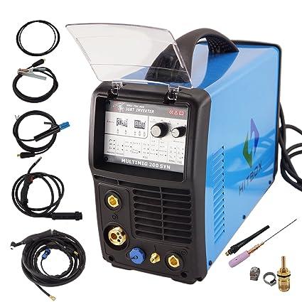 Hitbox arco Mig Tig Syn 3 en 1 inverter sudor eléctrica 220 V DC Pistola de
