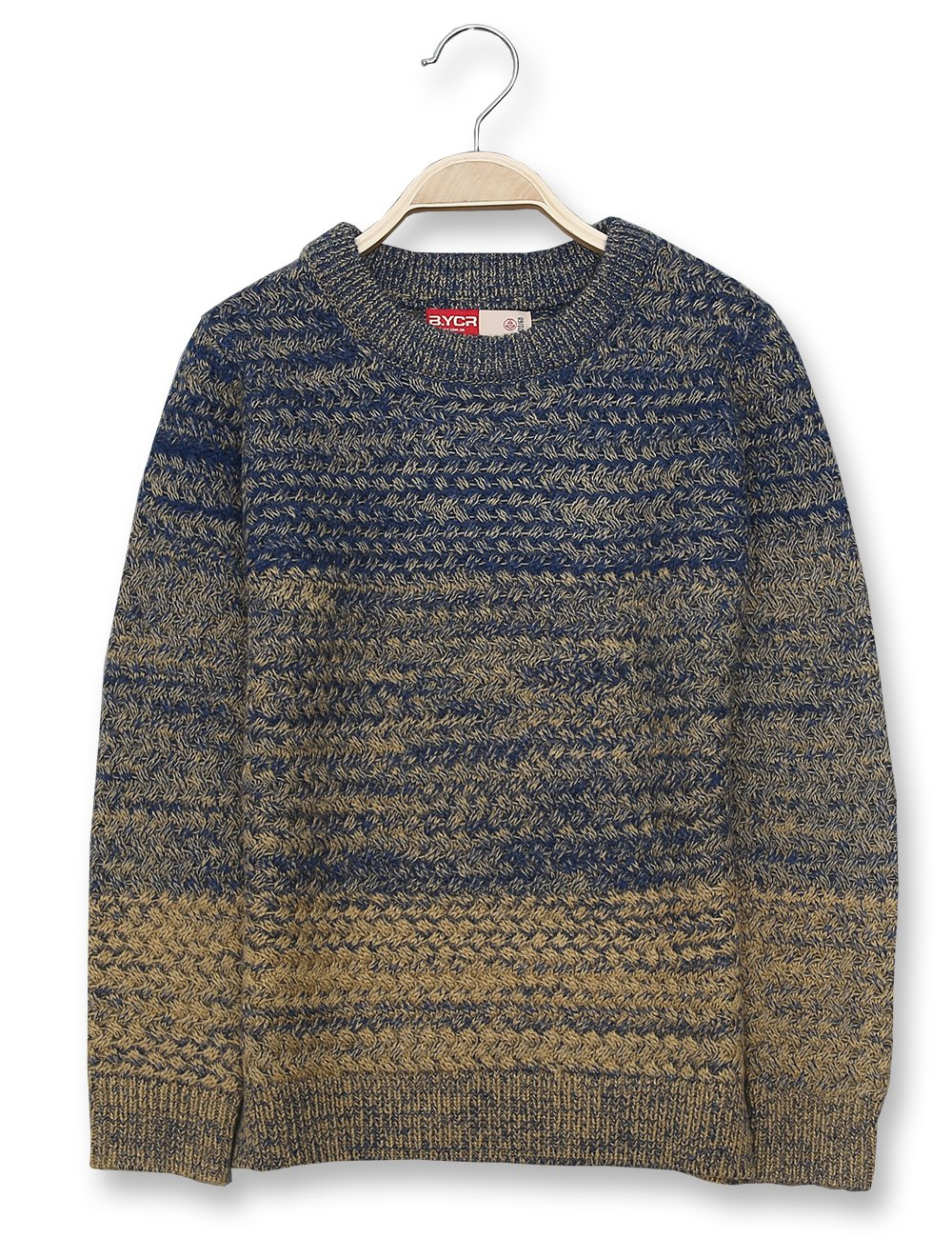 BYCR Boys' Fashion Warm Pullover Crew Neck Knitted Sweater No. 7157100782 (150 (US Size 10), Blue)