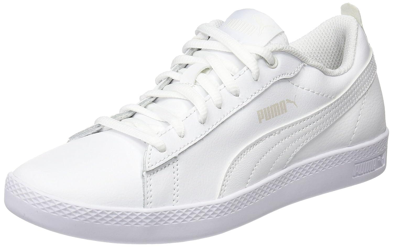 Puma Damen Smash WNS V2 L Sneaker  40 EU|Wei? (Puma White-puma White 4)