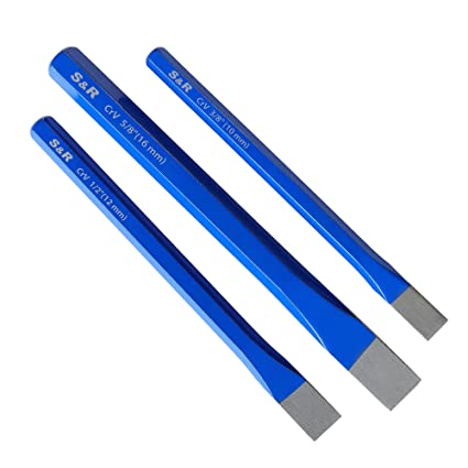 S&R Cinceles albañil - Juego de 3 Cinceles de Albañil 16 x 170 mm, 12