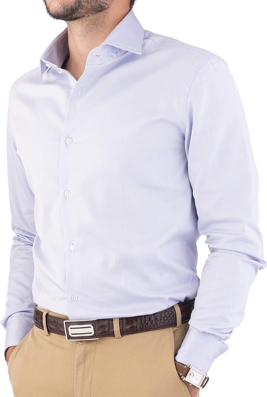 Cashmere Zone - Camisa para hombre, 100% popelina de ...