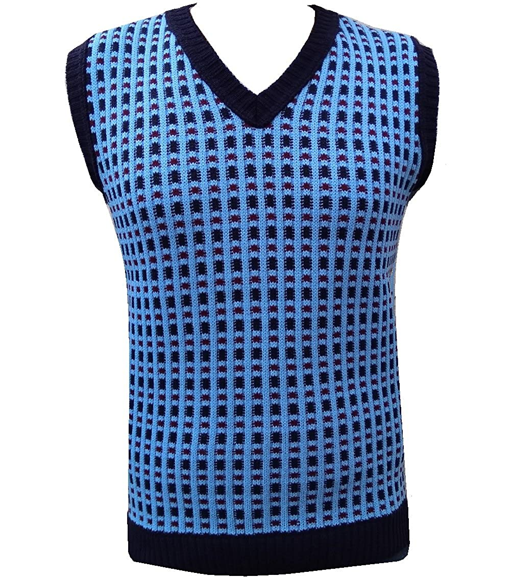 1950s Men's Clothing London Knitwear Gallery Knitted Tanktop £18.99 AT vintagedancer.com