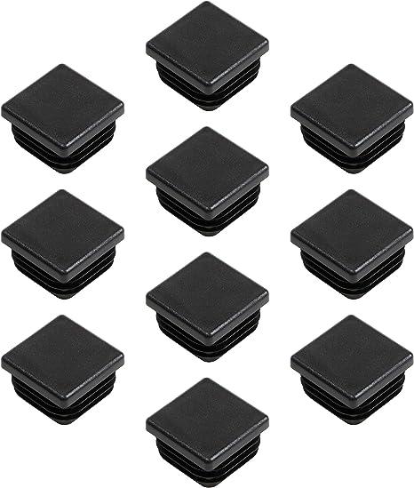 sourcing map Tapones cuadrados de extremo pl/ástico para pata de muebles silla mesa 24mm x 24mm 12 Piezas