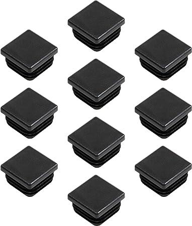 Lamellenstopfen für Vierkantrohr Rohrkappen Rohrstopfen Stopfen Vierkant schwarz