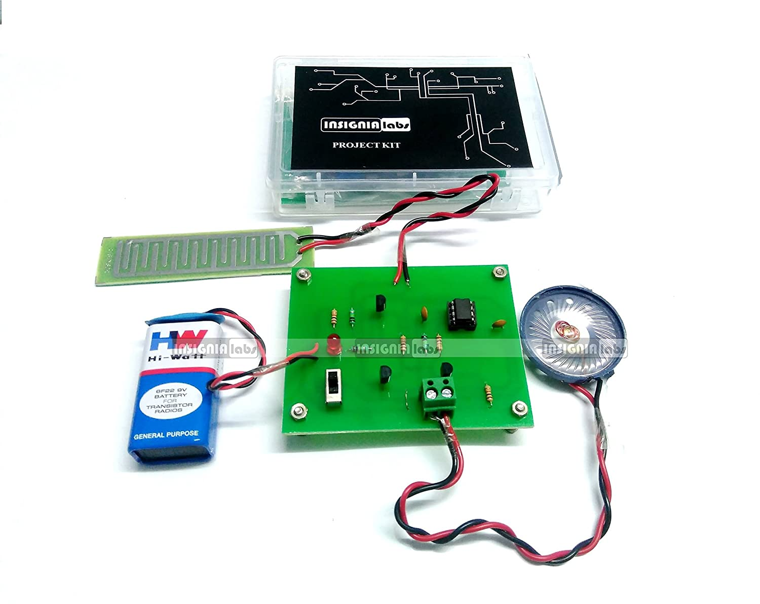 Insignia Labs Rain Sensor Detector Alarm Kit Project Diy How To Build A 555 Timer Based Motorcycle Electronic School College Industrial Scientific