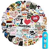 100PCS Reading Stickers, Motivational Stickers for HydroFlask, Waterproof Decal for Teens, Trendy Vinyl Stickers for Water Bo