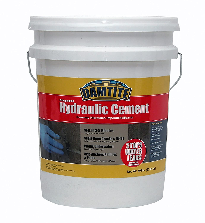Damtite Waterproofing 07031 Waterproof Hydraulic Cement, 2 5-Pound