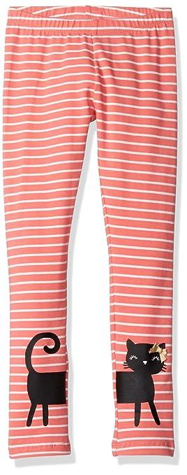 af1c96d397bde Amazon.com: Gymboree Girls' Toddler Cat Striped Legging, Sunkist Coral, 3T:  Clothing